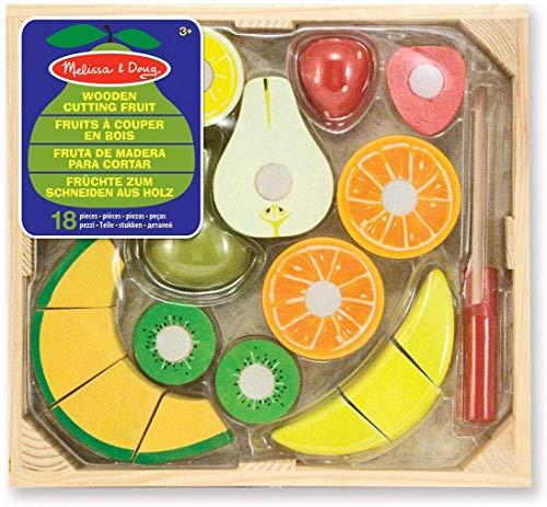 Melissa & Doug- Set Frutta da Tagliare Giochi di Legno, Multicolore, 96046