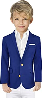 Black n Bianco Boys' Golden Age Slim Fit Blazer Jacket with Brass Buttons Presented by The Black Ring Pirates
