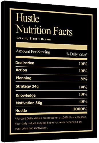Motivational Manufacturer regenerated Seattle Mall product Canvas Wall Art Nutrition Painting-Ins Hustle Facts
