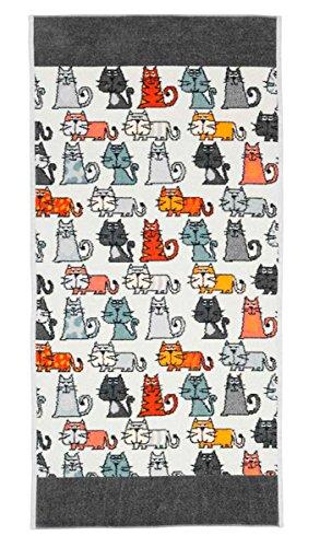 Feiler cats00010215, Handtuch, Cats, 50 x 100 cm, Schiefer