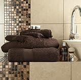 Lot de 6 serviettes en coton égyptien - 700 g/m ² ultra-doux de qualité Motif Miami de LUXE 2 x Draps de bain et 2 serviettes...