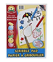 Kids Scribble and DoodleスケッチパッドColoring Books 60シート–のセット2