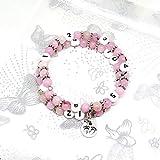 Bracelet d'allaitement perles jaspe - fleur de cerisier/grossesse, allaitement, cadeau naissance