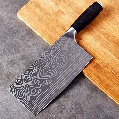 8 pulgadas chino cuchillo de carnicero Cuchillo Chopper 7CR17MOV acero inoxidable Cuchilla de carne vegetal cortador cuchillo cocinero de la cocina Cuchillo para utensilios (Color : Type 4)