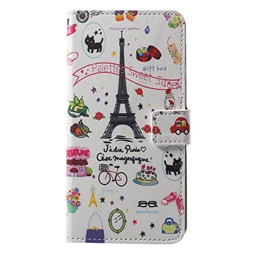 CoverKingz Handyhülle für Huawei P20 - Handytasche mit Kartenfach Huawei P20 Cover - Handy Hülle klappbar Motiv Sweet Paris