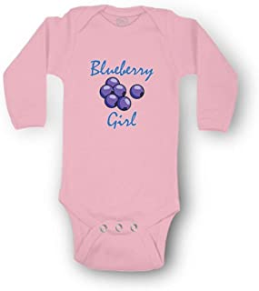 Blueberry Girl Boys-Girls Long Sleeve Cotton Baby Bodysuit One Piece