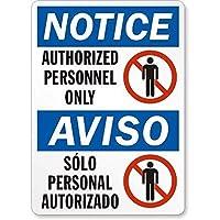 警告標識、ch許可された人員のみ、ヴィンテージのブリキの壁看板レトロアート鉄絵画金属警告プラークカフェバースーパーマーケットカフェテリアホーム