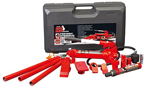 Torin Big Red Portable Hydraulic Ram: Auto Body Frame Repair Kit with Carrying Case, 4 Ton Capacity