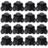 ARTIBETTER 16pcs Angle Corner Protector Black Iron Cabinet Speaker Corners Protector for Cabinet Guitar Amplifier Stage Speaker Rounded Metal Guards