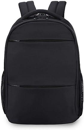Myzixuan pulgadas Colegio mochilas Negro Mochila Mujer Mochila portátil Bag