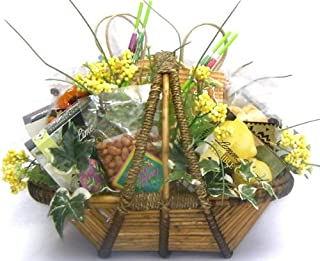 Tropical Gift Basket - Loaded With Refreshing Flavors From The Tropics - Fresh Nuts, Flavor Filled Cookies, Tropical Drink...