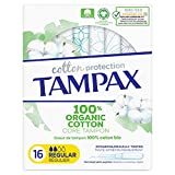 Tampax Cotton Protection Régulier Tampons Avec Applicateur X 16