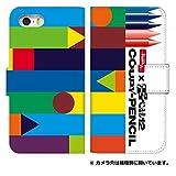 スマホケース 手帳型 iPhone 8 ケース 手帳 かわいい サクラ クレパス クーピー クレヨン 柄 ……