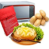 A-cool Microwave Potato Cooker - Perfect Oven Baked Potatoes in just 4 Minutes - Works on Any Type of Potatoes - Holds up to 3-4 Large Potatoes - Reusable and Machine Washable (2)