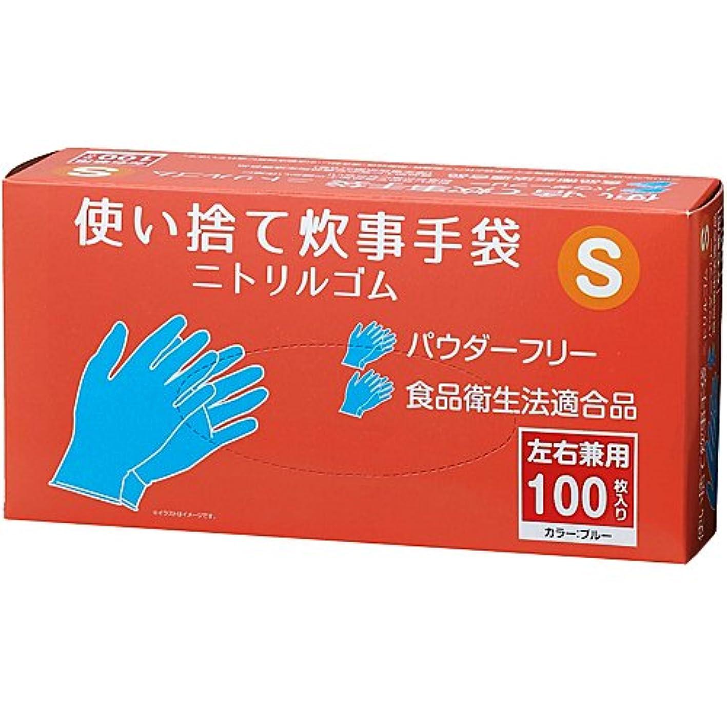 ずっとイタリック移植コーナンオリジナル 使い捨て炊事手袋 ニトリルゴム 100枚入り S KFY05-1142