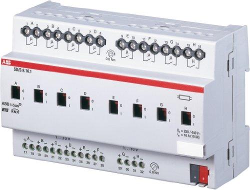 ABB SD/S8.16.1 EIB/KNX Schalt-/Dimmaktor, 16A, REG, 8-fach