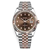 Rolex Datejust 41 Diamond Dial 18K Rose Gold Watch 126331