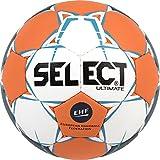 SELECT Ultimate Ballon de handball, Blanc/Orange/Bleu, Taille 2