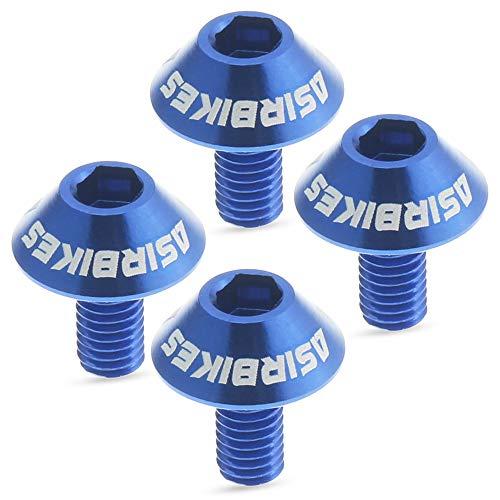 ASIR Schrauben für Flaschenhalter für Fahrrad, leichte Aluminiumlegierung, Mountainbike, Rennrad, 4 Stück (blau)