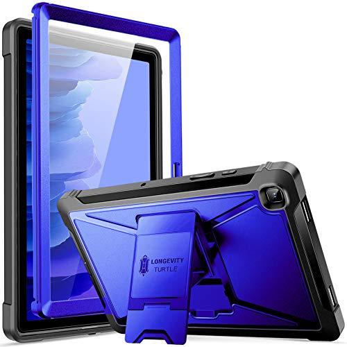 ZtotopCase Funda para Samsung Galaxy Tab A7 10.4 2020 Tableta (SM-T500/505/507), Protector de Pantalla Incorporado, Doble Capa a Prueba de Golpes con Soporte - Azul