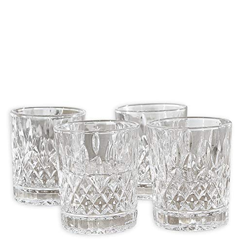 Loberon Glas 4er Set Crista, Glas, H/Ø ca. 7/6,5 cm, klar
