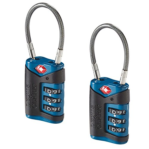 Lewis N. Clark Tsa Cable Lock 2 Pack, Blue