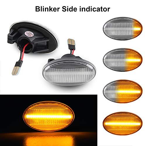 Dynamische Seitenblinker OZ-LAMPE Blinker Fließende Seitenblinker Klar Für Ben-z Smart W450 & W452 A-Klasse W168 Citan W415 Vito W639 Vito W447