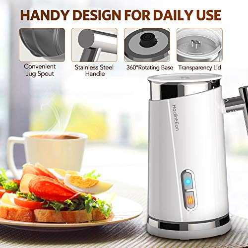HadinEEon Milk Frother, Electric Milk Frother & Steamer for Making Latte, Cappuccino, Hot Chocolate, Automatic Cold Hot Milk Frother & Warmer (4.4 oz/10.1 oz), Coffee Frother Milk Heater, 220V