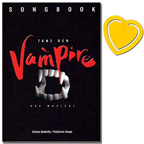 Tanz der Vampire - Musical Songbook für Klavier, Gesang, Gitarre - Nach dem gleichnamige Film von Roman Polanski - mit herzförmiger Notenklammer