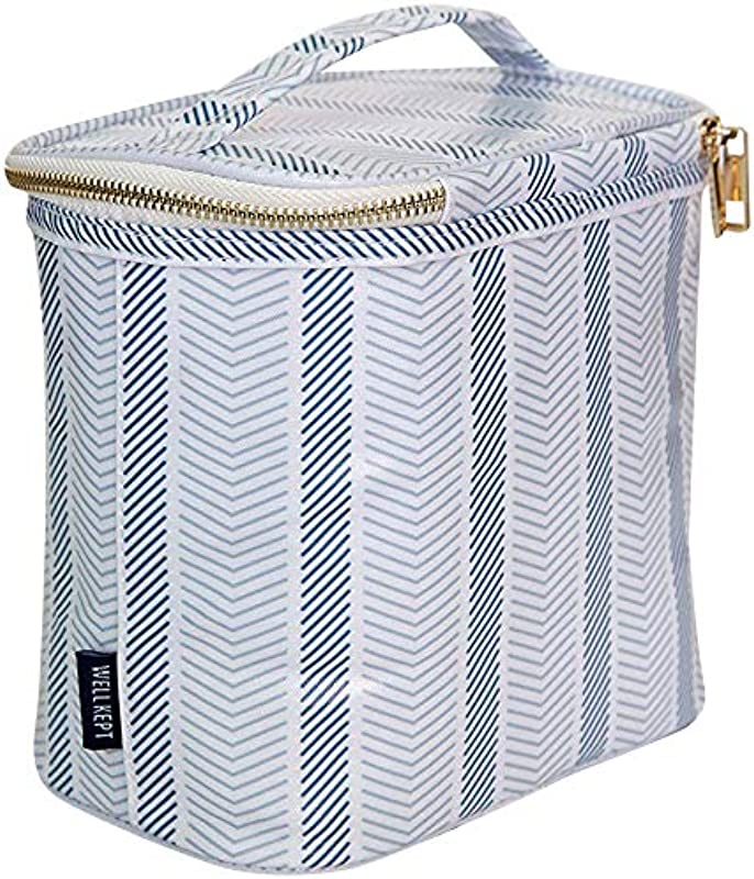 PREPPY MODERN DESIGNER LUNCH TOTE Insulated Reusable HEAD TO LUNCH IN STYLE
