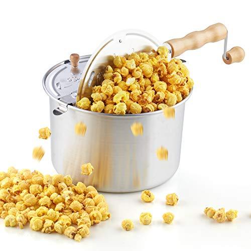 Cook N Home 6 Quart Aluminium Stovetop Popcorn Popper