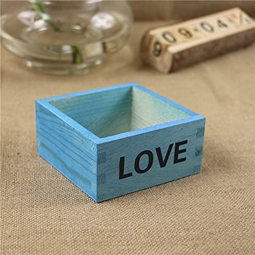 MUY Antiker Holz Blumentopf Tisch Kleinigkeiten Container Kosmetik Schmuck Aufbewahrungsbox Holz Schmuck Halter Aufbewahrungsbox Holz Handwerk für Frauen Ostern Andenken Box