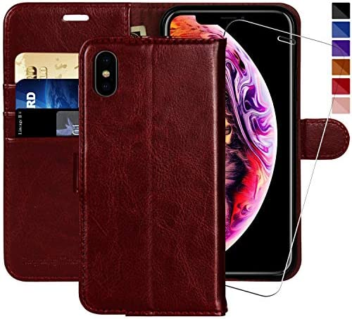 iPhone Xs MAX Wallet Case 6 5 inch MONASAY Glass Screen Protector Included Flip Folio Leather product image