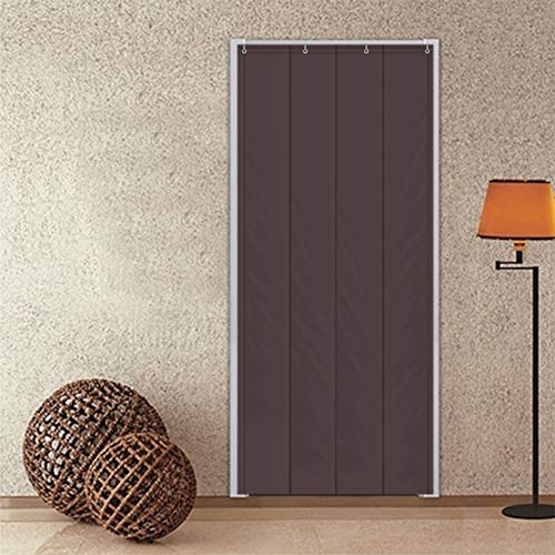 YHviking Warm Winter Door Curtain,Cold Windbreak Partition Curtain,Soundproof Non Fading for Household Doorway School-Dark Brown 90x200cm(35x79inch)