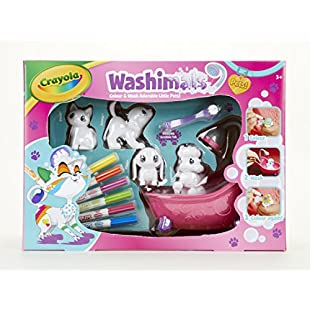 Crayola 74-7249 Washimals Playset, Colour and Design, Washable, Re-Usable Pets Gift for Kids, Ages 3 to 8, Large