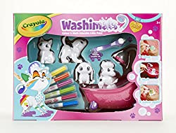 Colour your pets, then wash using only water in the supplied bath tub and colour again Use the included washimals felt tip pens to colour and create patterns and designs on your pets Ideal birthday or Christmas present for art, crafts and animal lovi...