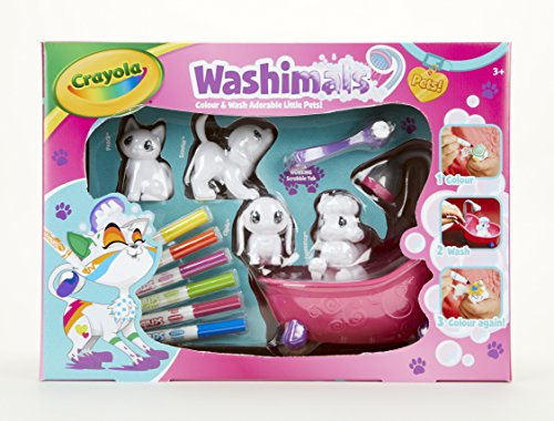CRAYOLA Washimals Colour and Wash Pets Playset - Creative Colouring Crafts Kit, Gift Set with Washable Marker Pens 74-7249
