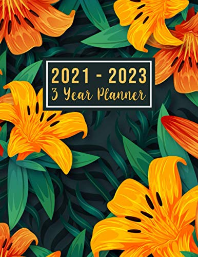 3 year planner 2021-2023: 2021-2023 see it bigger Square planner | 36-Month Plan & Calendar with Holidays Size: 8.5' x 11' ( Jan 2021 - Dec 2023). ... Notebook Flower Watercolor design for Women