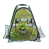 Queta Abdeckung für Gewächshaus aus aus PVC, für Mini-Gartenpflanzen, Blumen, Pop-Up-Zelt, 1 x 4 m, für Gartenhaus, Gewächshaus, Abdeckung für kalte Frostschutz, Gartenpflanzen