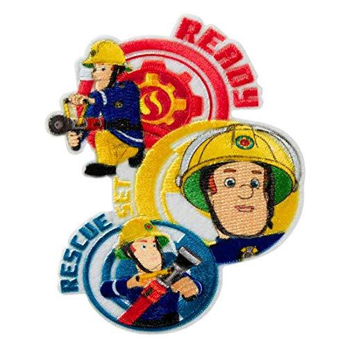 Feuerwehrmann Sam © Ready Rescue - Aufnäher, Bügelbild, Aufbügler, Applikationen, Patches, Flicken, zum aufbügeln, Größe: 7,6 x 6,5 cm