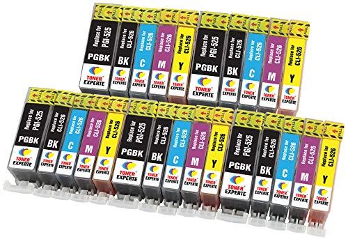 PGI-525 CLI-526 TONER EXPERTE® 25 XL Cartuchos de Tinta compatibles con Canon PIXMA MG5350 MG5250 MG5150 MG6150 MG6250 iP4850 iP4950 MX895 MX885 MX715 iX6550 MG8150 MG8250 | Alta Capacidad