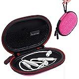 Smatree Headphone Hard Case Compatible with BeatsX, Beats Flex, Powerbeats2, Powerbeats3 Earphones, Bluetooth Sports Headphones (Pink)