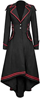 Fashion Women Gothic Long Jacket Swallowtail Coat Train Vintage Medieval Outfits