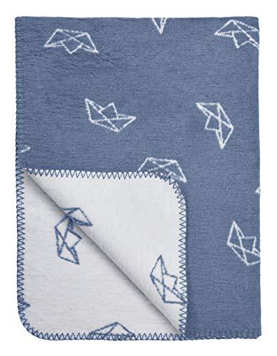 Meyco 1531022 babydeken/knuffeldeken Parent Boot 120x150cm jeansblauw