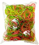Made of 100% Natural Rubber matrial : rubber, Light weight, High quality flexible rubberbands for home & office use Size : 2 Inch Diameter - approx. 50gms Colour : Pink, yellow, Green