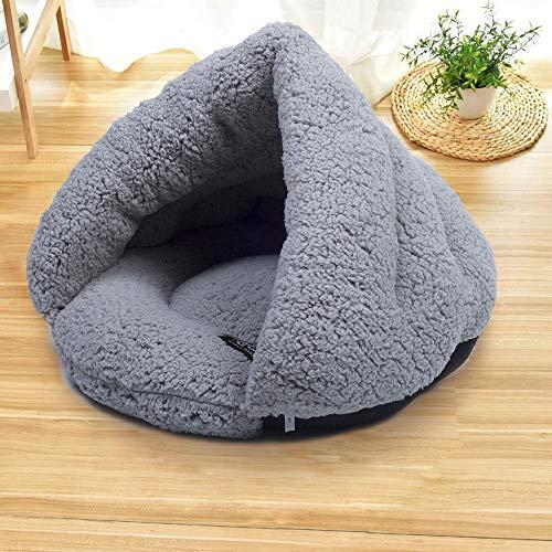 NIBESSER Katzen Schlafsack Waschbar Bequem Katzenbett Kuschelhöhle aus Fleece für Katzen, Kleintiere oder Welpen