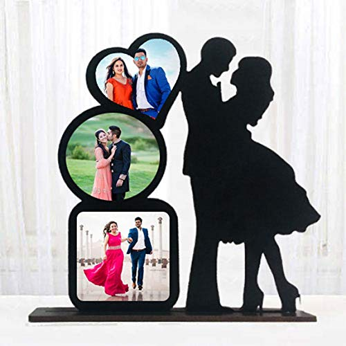 Gift Jaipur Couple Standy Personalised Black Photo Table Frame 10 X 8 in - Gift for Wife Husband Fiance Birthday Anniversary...