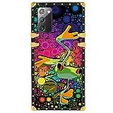 Custodia per Samsung Galaxy Note 20 5G - Cover quadrata con motivo a bolle di rana di lusso TPU con quattro angoli di protezione tampone forte ma non pesante