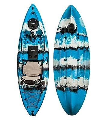 00850008571039 Vanhunks Manatee 9ft Single Fishing Kayak - Blue from Vanhunks Boarding