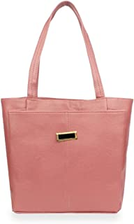 Generic Women's Faux Synthetic Leather Satchel Bag (Peach)-PID29363
